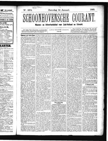Schoonhovensche Courant 1903-01-24
