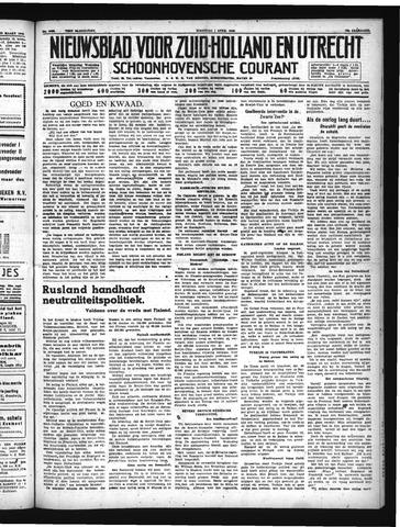 Schoonhovensche Courant 1940-04-01