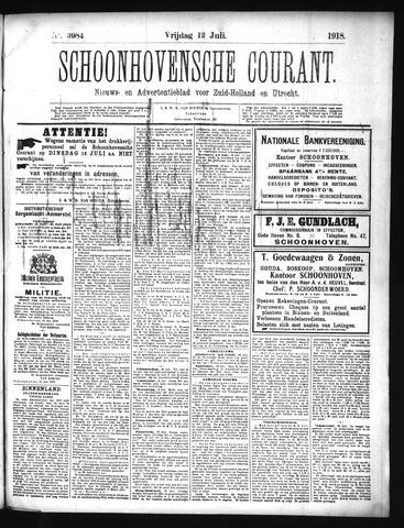 Schoonhovensche Courant 1918-07-12