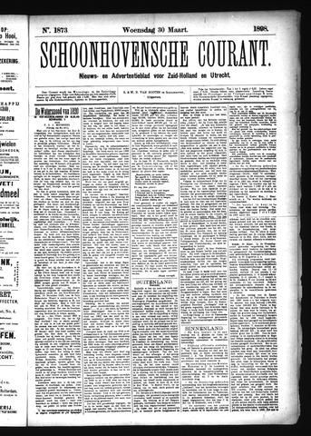 Schoonhovensche Courant 1898-03-30