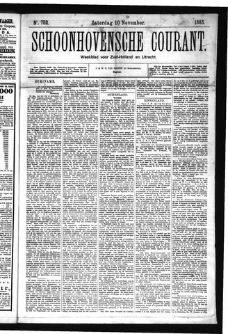 Schoonhovensche Courant 1883-11-10