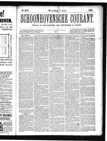 Schoonhovensche Courant 1893-06-07