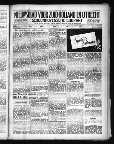 Schoonhovensche Courant 1938-03-18