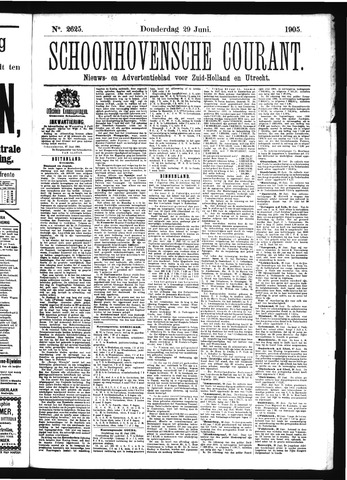 Schoonhovensche Courant 1905-06-29