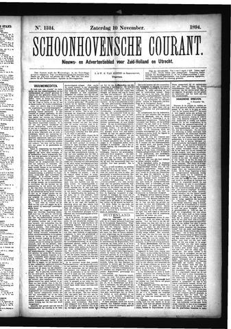 Schoonhovensche Courant 1894-11-10