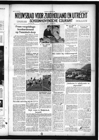 Schoonhovensche Courant 1958-02-10