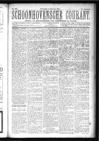 Schoonhovensche Courant 1922-02-22