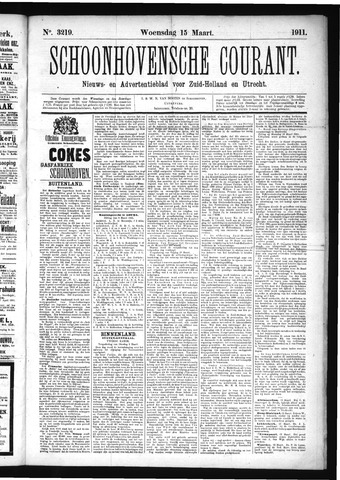 Schoonhovensche Courant 1911-03-15