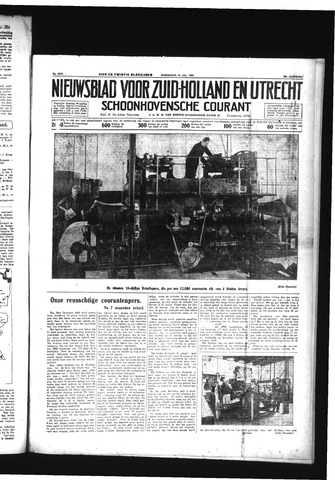 Schoonhovensche Courant 1934-07-18