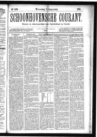Schoonhovensche Courant 1891-08-05
