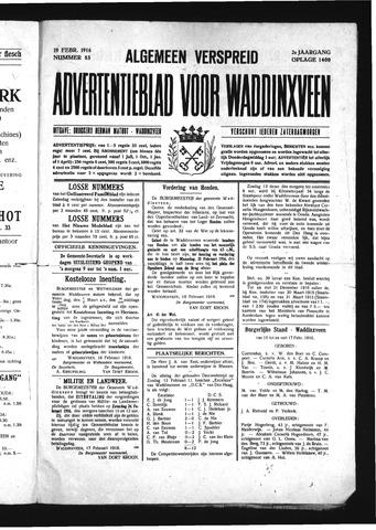 Advertentieblad Waddinxveen 1916-02-19