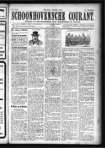 Schoonhovensche Courant 1923-10-01