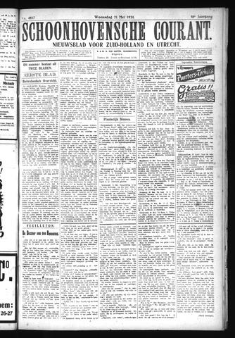 Schoonhovensche Courant 1924-05-21