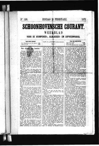 Schoonhovensche Courant 1872-02-18