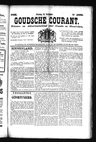 Goudsche Courant 1892-11-22