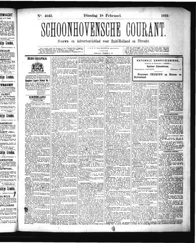 Schoonhovensche Courant 1919-02-18