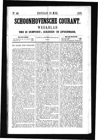 Schoonhovensche Courant 1870-05-15
