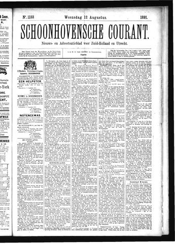 Schoonhovensche Courant 1891-08-12