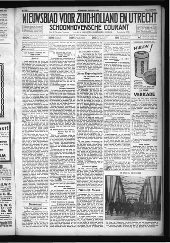 Schoonhovensche Courant 1931-11-04