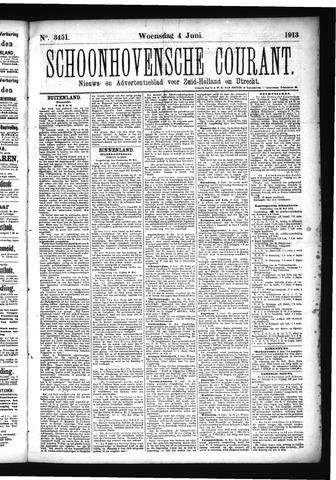 Schoonhovensche Courant 1913-06-04