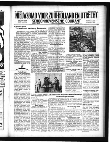 Schoonhovensche Courant 1951-06-04