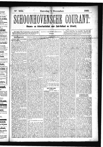 Schoonhovensche Courant 1900-12-08