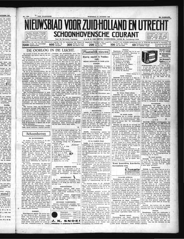 Schoonhovensche Courant 1937-10-27