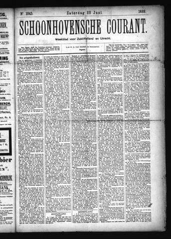 Schoonhovensche Courant 1889-06-22