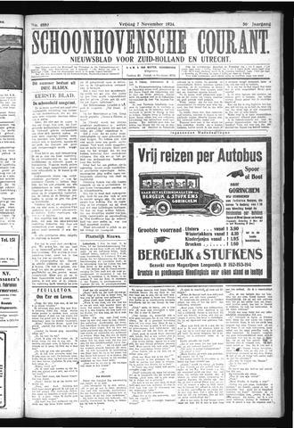 Schoonhovensche Courant 1924-11-07