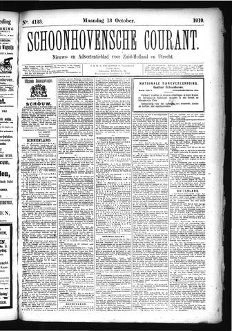Schoonhovensche Courant 1919-10-13