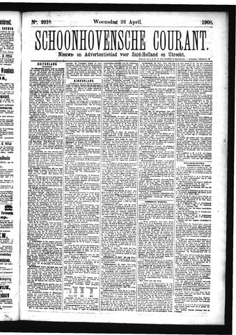 Schoonhovensche Courant 1908-04-22