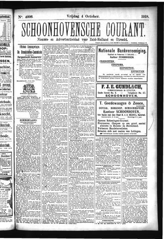 Schoonhovensche Courant 1918-10-04