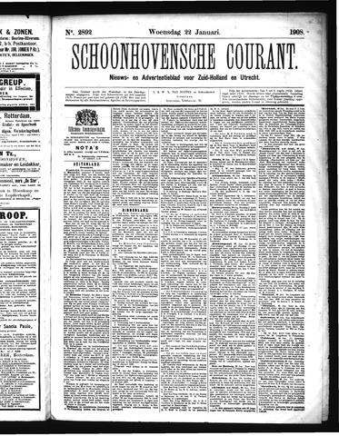 Schoonhovensche Courant 1908-01-22