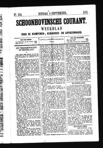 Schoonhovensche Courant 1871-09-03