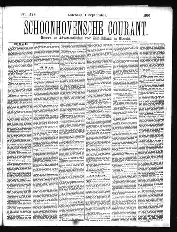 Schoonhovensche Courant 1906-09-01