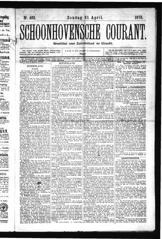 Schoonhovensche Courant 1878-04-21