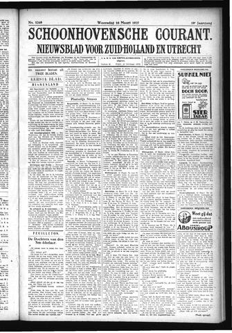 Schoonhovensche Courant 1927-03-16
