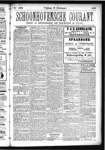 Schoonhovensche Courant 1920-02-27