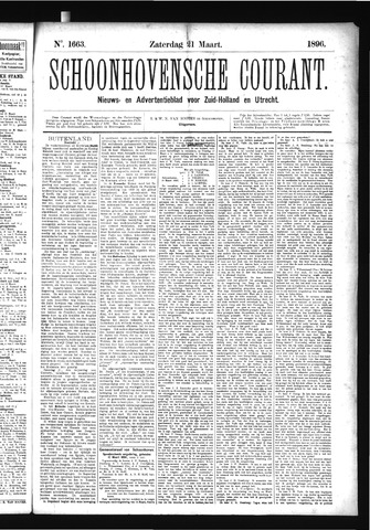 Schoonhovensche Courant 1896-03-21