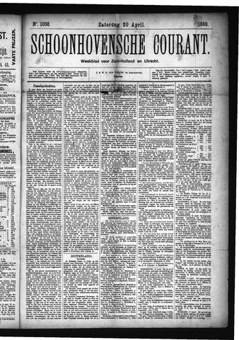 Schoonhovensche Courant 1889-04-20