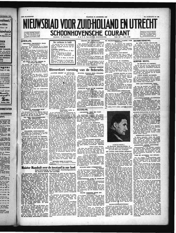Schoonhovensche Courant 1947-12-22