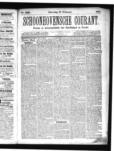 Schoonhovensche Courant 1910-02-19