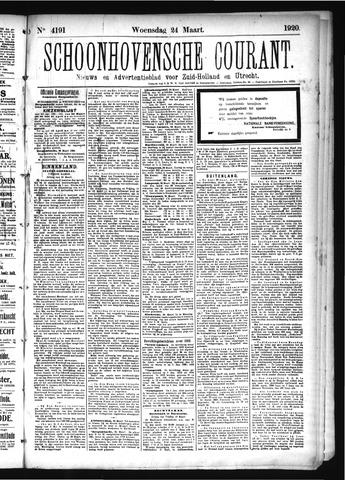 Schoonhovensche Courant 1920-03-24