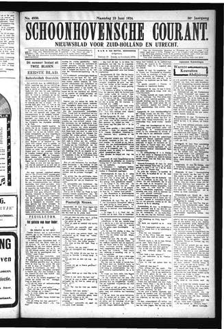 Schoonhovensche Courant 1924-06-23