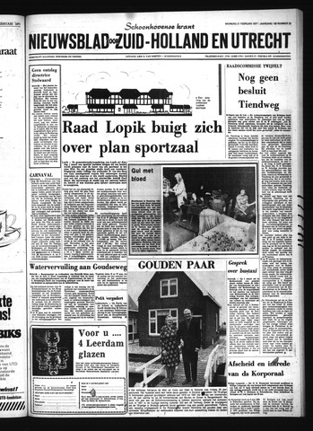 Schoonhovensche Courant 1977-02-21