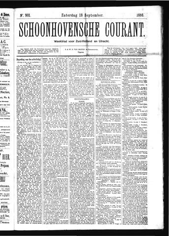 Schoonhovensche Courant 1886-09-18