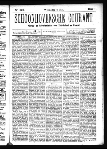 Schoonhovensche Courant 1903-05-06