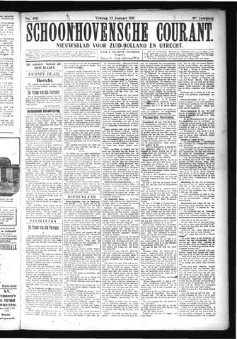 Schoonhovensche Courant 1925-01-23