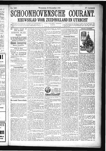 Schoonhovensche Courant 1925-12-23