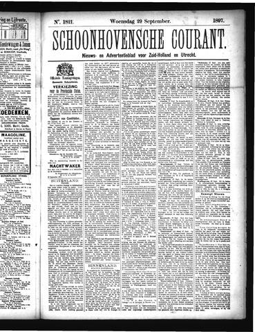 Schoonhovensche Courant 1897-09-29